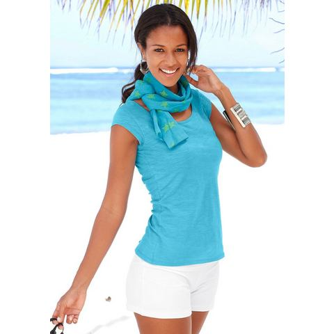 BEACHTIME Shirt en sjaal van puur katoen