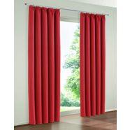 gordijn, »solana«, my home, rimpelband, set van 2 rood