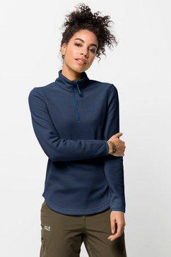 jack wolfskin trui met staande kraag echo women blauw