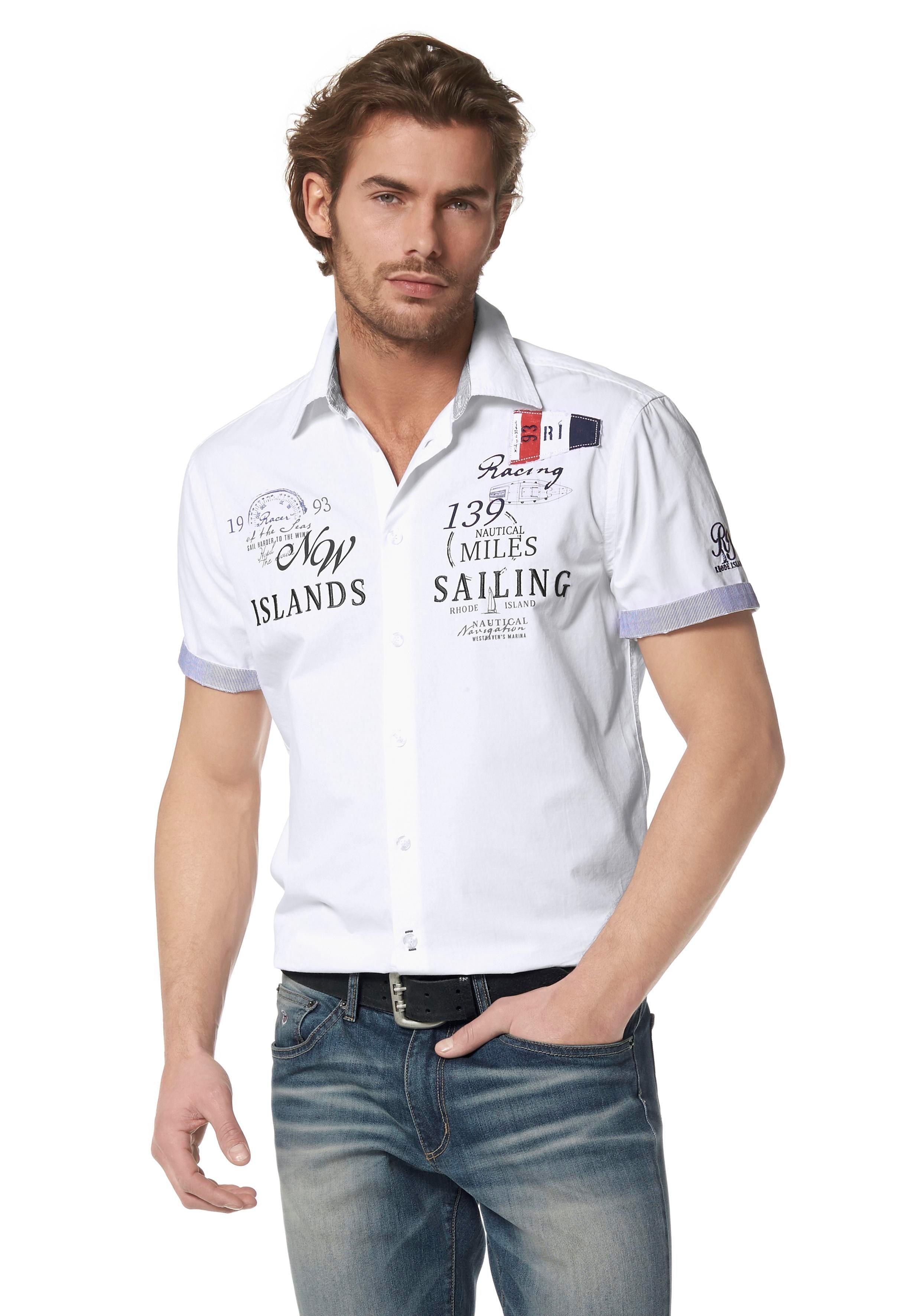 Rhode Island overhemd met korte mouwen nu online kopen bij OTTO
