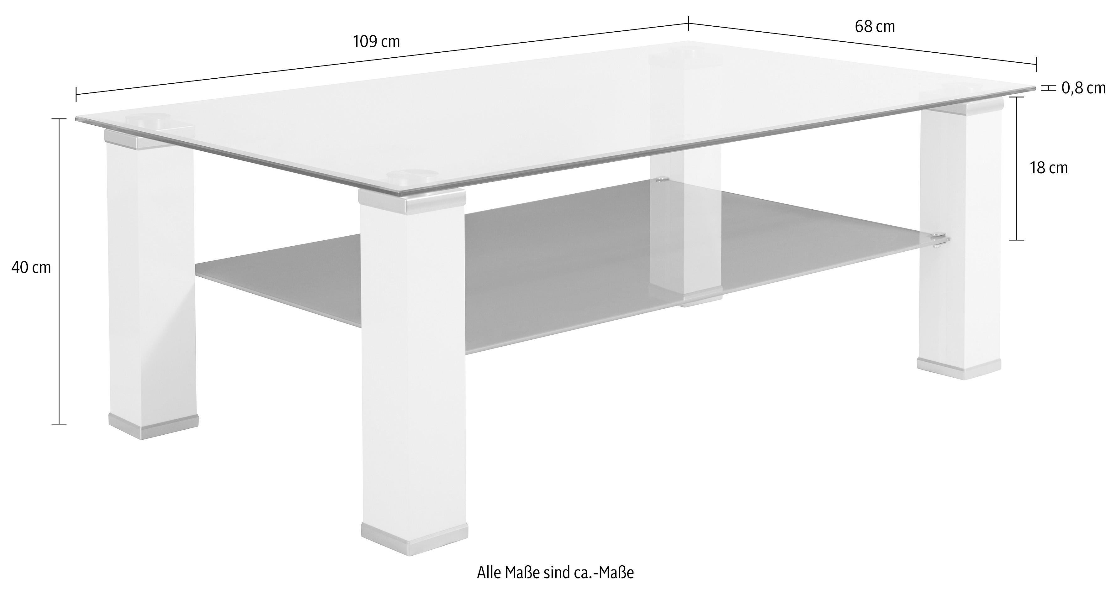 Hoogglans Witte Salontafel Met Glasplaat.Salontafel Met Glasplaat Makkelijk Gevonden Otto