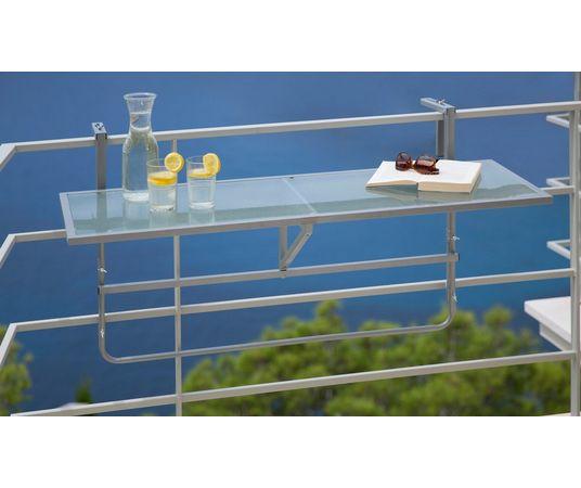 Balkon Hangtafeltje Inklapbaar Staal Veiligheidsglas In