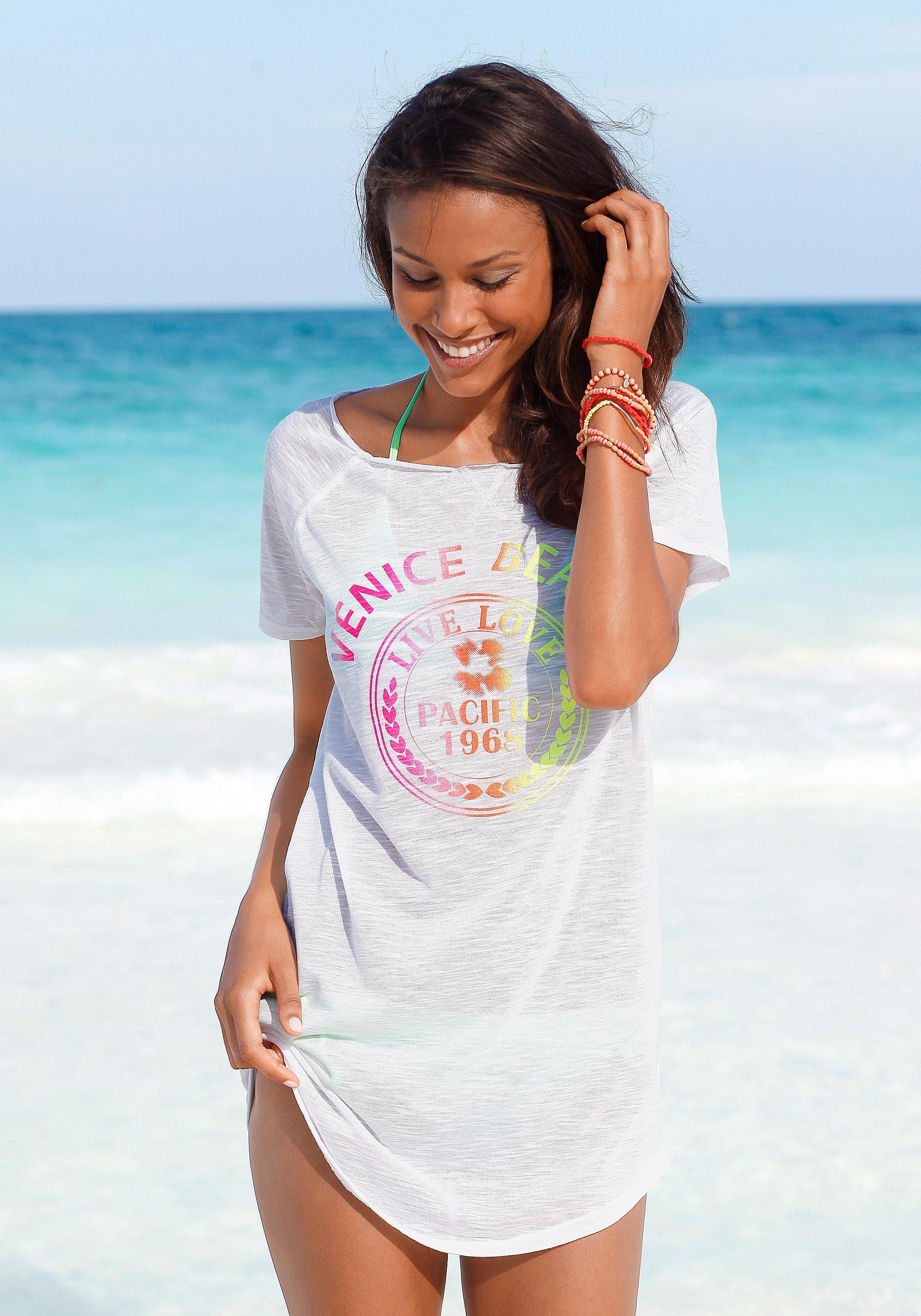 VENICE BEACH Lang shirt met neon-frontprint nu online bestellen