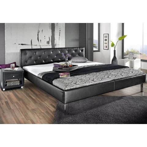 Bed zwart Atlantic Home Collection 200639