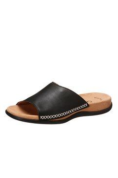 gabor slippers van leer zwart