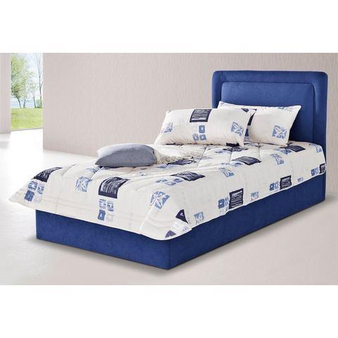Bed met optionele bedkist 7 zones koudschuim H2 blauw Westfalia Polsterbetten 555022