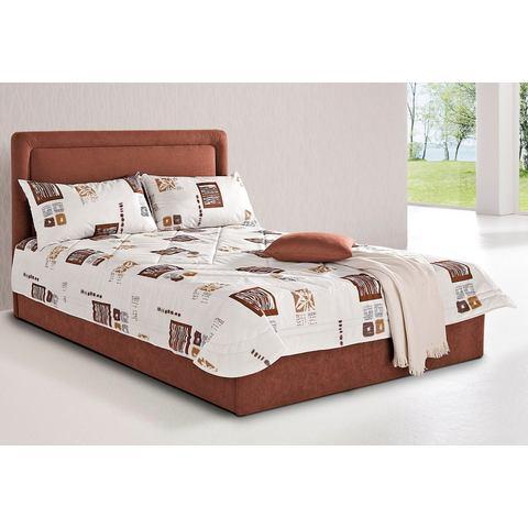 Bed met optionele bedkist 7 zones koudschuim H3 bruin Westfalia Polsterbetten 551315