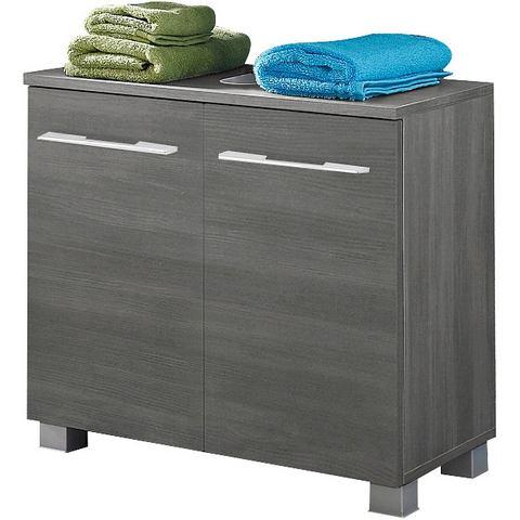 KESPER kast Balli met metalen grepen beige badkamer wastafelonderkast 80