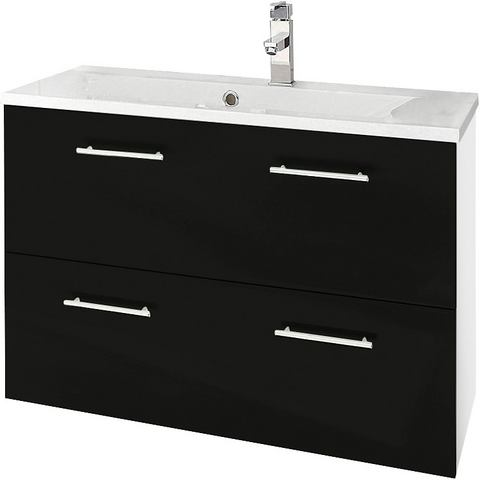 KESPER Wastafelonderkast Sierra met metalen grepen witte badkamer onderkast 189