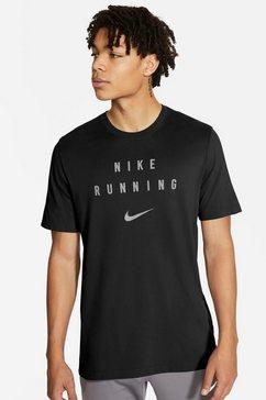 nike runningshirt »nike dri-fit run division men's run« zwart
