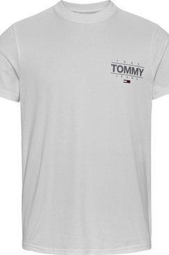 tommy jeans t-shirt tjm slim stretch metallic tee wit