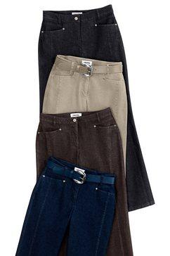 cosma jeans in cotton-feeling-uitvoering bruin