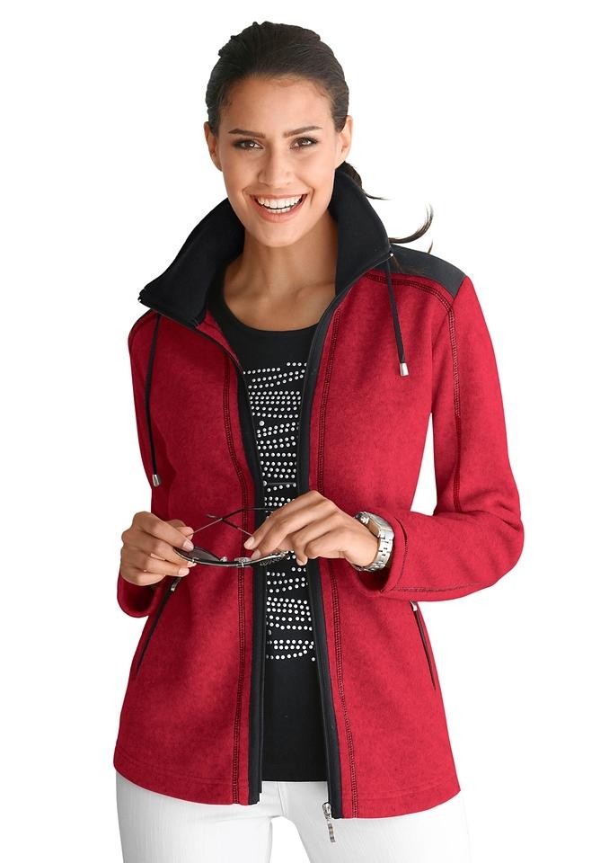 Casual Looks Fleece-jack van 100% polyester - verschillende betaalmethodes