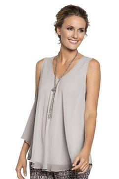 blousetop in klokkend a-model bruin
