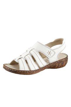 casual looks sandalen met aantrekkelijke siernaden wit