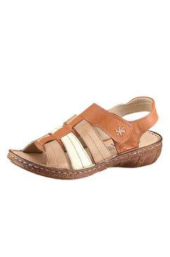 casual looks sandalen met aantrekkelijke siernaden bruin