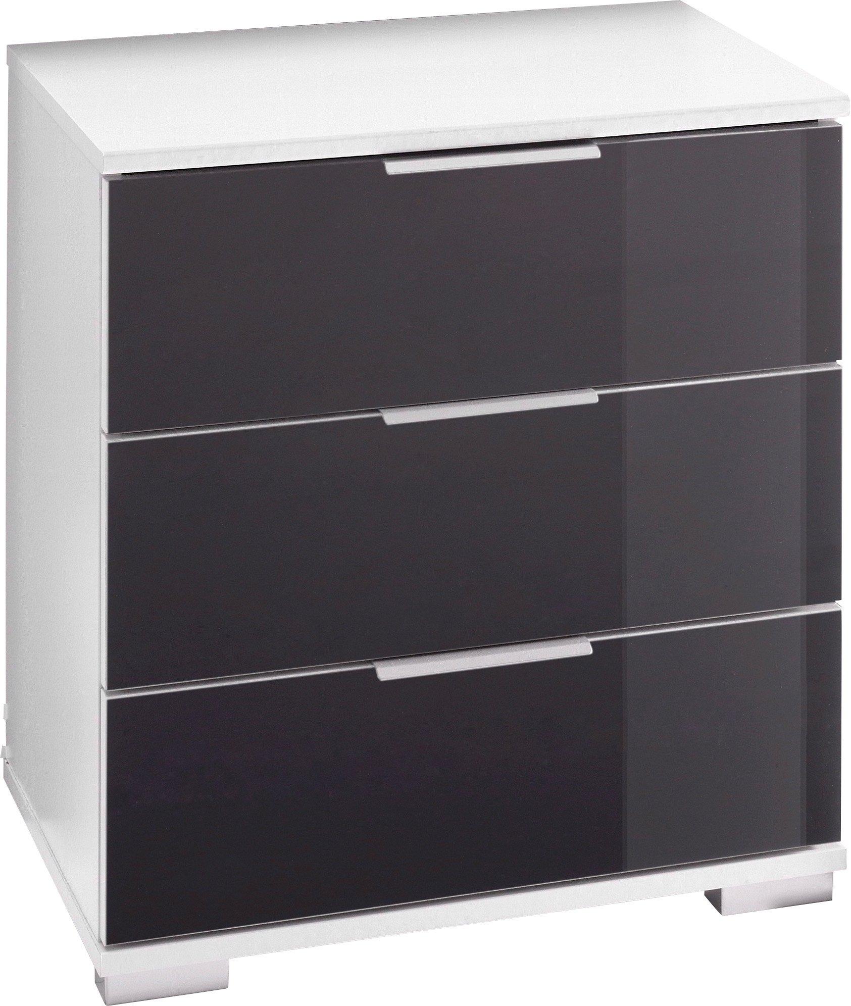 Nachtkastje met 3 laden op metalen geleiders online kopen otto - Metalen nachtkastje ...
