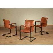 premium collection by home affaire vrijdragende stoel parcival (set, 4 stuks) bruin