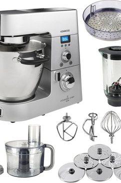 Keukenmachine Cooking Chef KM086, titanium / zilverkleur, incl. extra accessoires ter waarde van ca. € 270,-