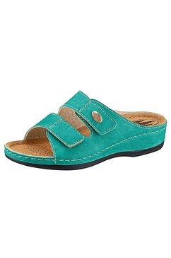 classic slippers met 2 klittenbandsluitingen blauw