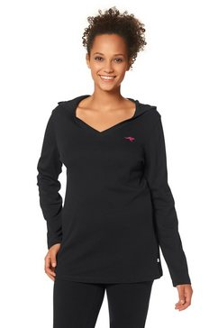 kangaroos shirt met lange mouwen en logoprint zwart