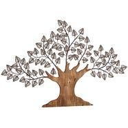 hofmann living and more sierobject voor aan de wand boom materiaalmix van metaal en hout bruin