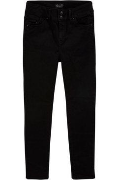 love to be by ltb slim fit jeans vivien low rise met brede 2-knoopsband zwart