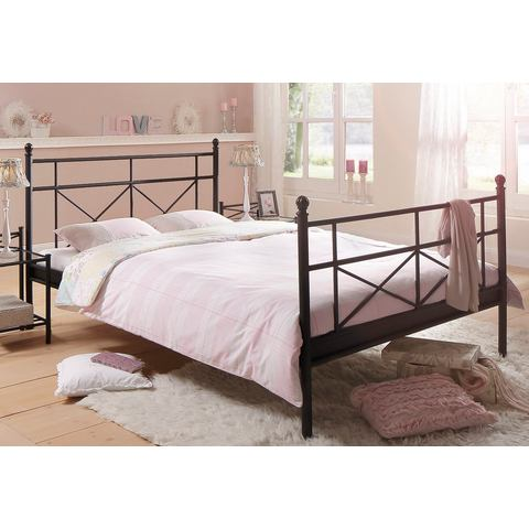 HOME AFFAIRE Metalen Bed in 4 breedten zwart zwart Home Affaire 362242