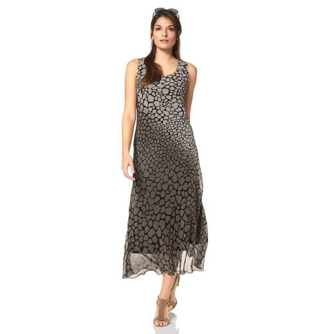 VIVANCE Chiffon jurk met allover animal print