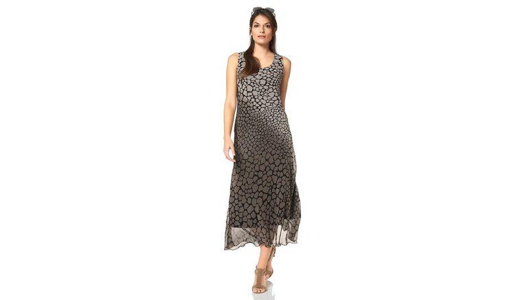2dae3d14b72d0f VIVANCE Chiffon-jurk met allover-animal-print in de online shop