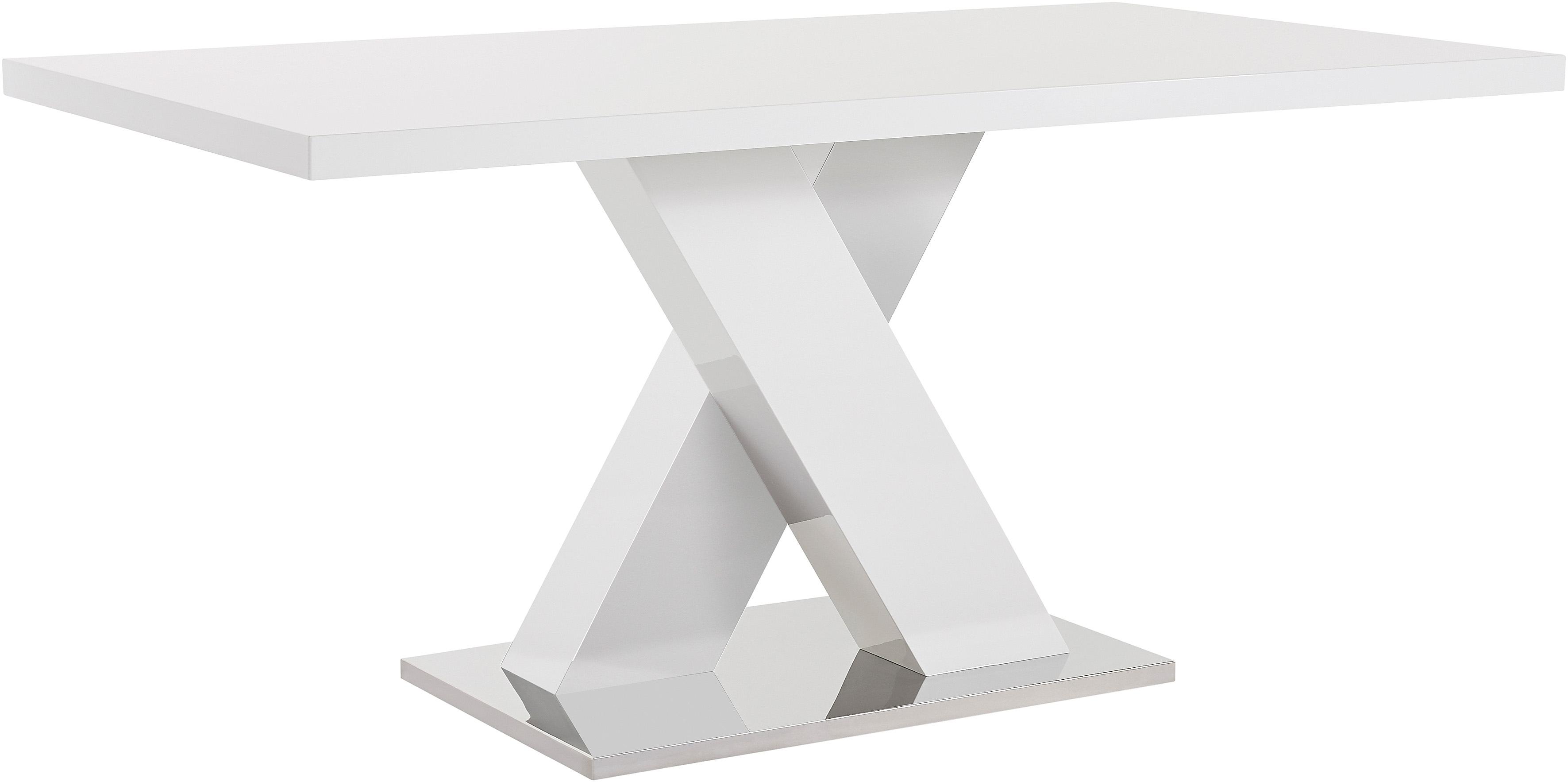 INOSIGN Eettafel Ali Breedte 160 cm, hoogglans-wit, bodemplaat van metaal - verschillende betaalmethodes