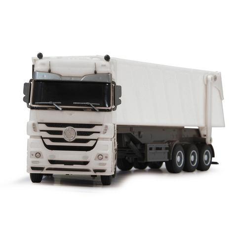 Jamara Bestuurbare vrachtwagen Mercedes Actros Kipper 1:32 - Lengte 33 cm.