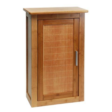 Badkamerkasten Hangend kastje bamboe 663363