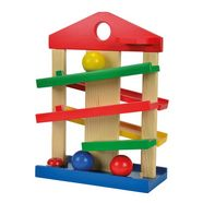 eichhorn knikkerbaanhuis van hout multicolour