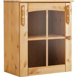 hangende vitrinekast sylt met 1 glasdeur beige