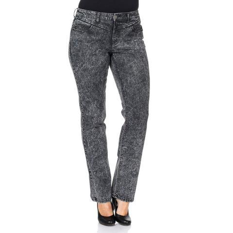 sheego Denim rechte jeans met moon-wassing