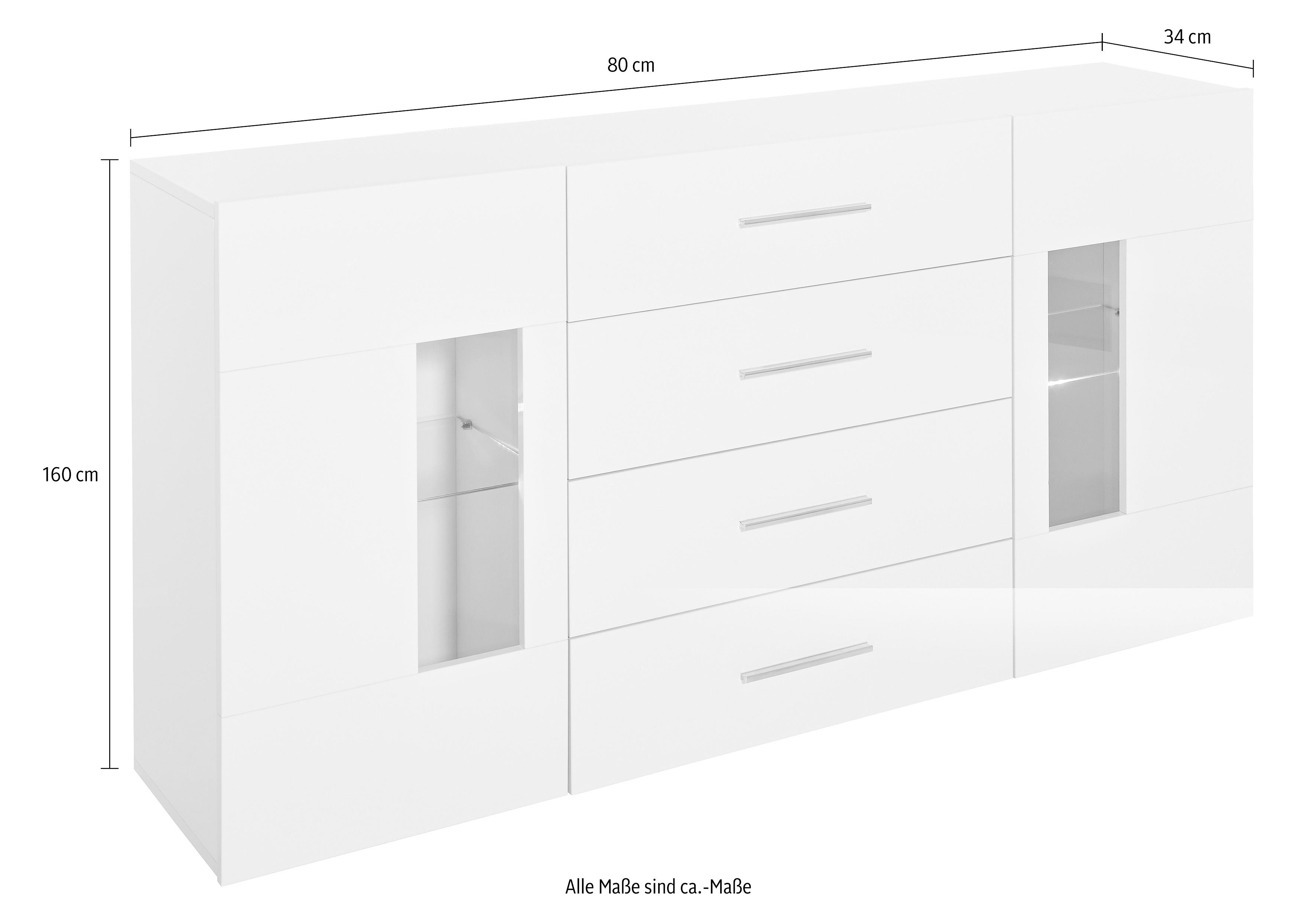 sideboard van 160 cm breed nu online bestellen otto. Black Bedroom Furniture Sets. Home Design Ideas