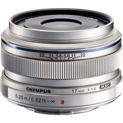 olympus groothoekobjectief m.zuiko digital 17 mm zilver