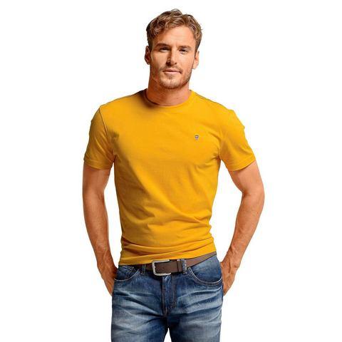 RHODE ISLAND T-shirt met contrastnaden