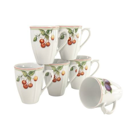 CREATABLE Unisex Porseleinen servies, »Flora Orchard« wit