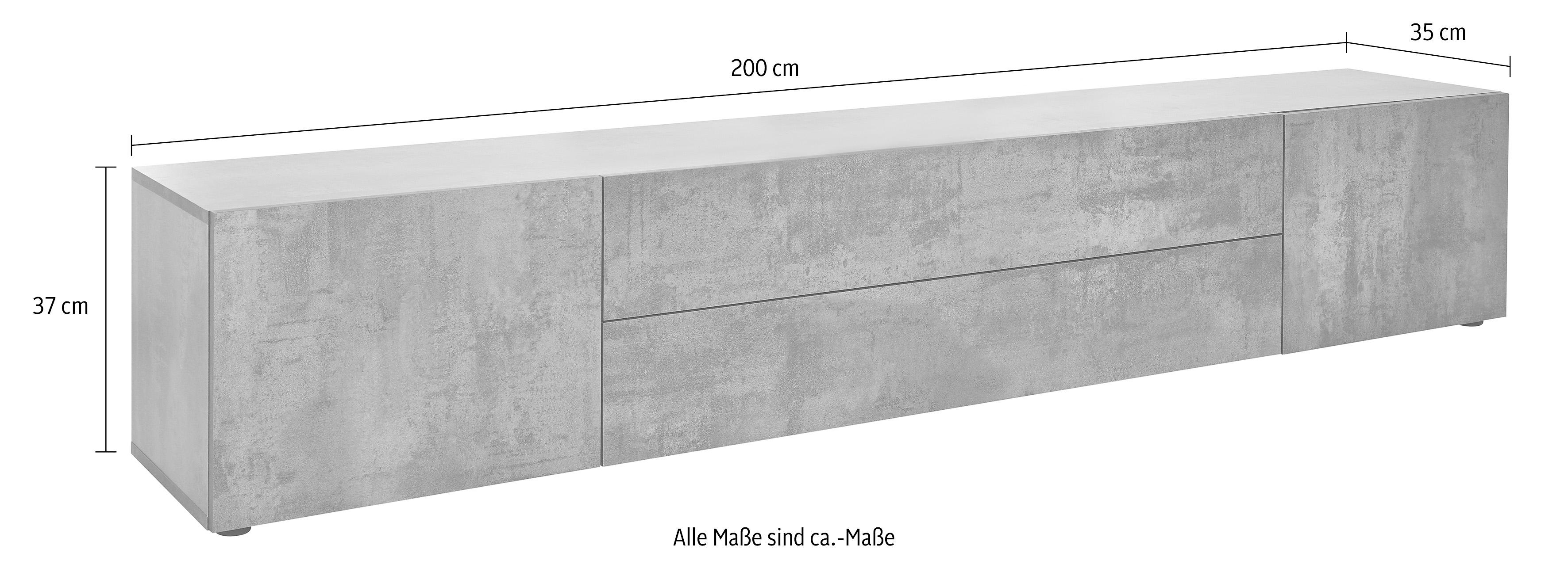 lowboard breedte 200 cm makkelijk gekocht otto. Black Bedroom Furniture Sets. Home Design Ideas