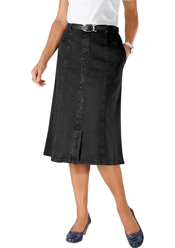 Classic Basics Jeans-rok met borduursel voor in het midden bij OTTO online kopen