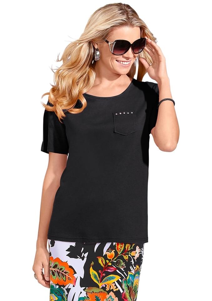 Classic Basics Shirt met siersteentjes voordelig en veilig online kopen