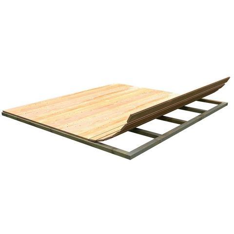 KARIBU Vloer voor tuinhuizen bxd 370 x 370 cm