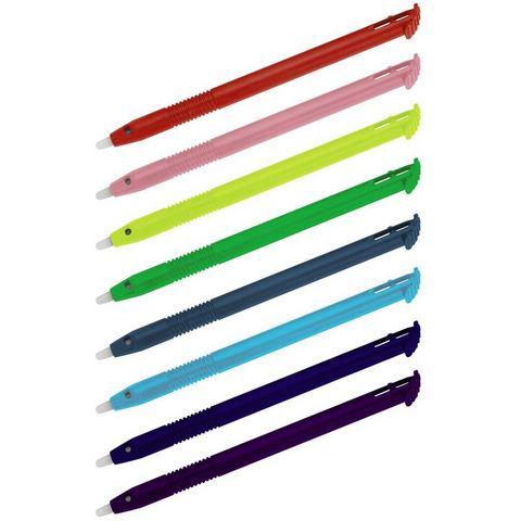 Hama Stylus Pen New 3DS XL, 8 stuks, regenboog kleuren