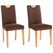 home affaire stoel in set van 2 van massief hout bruin