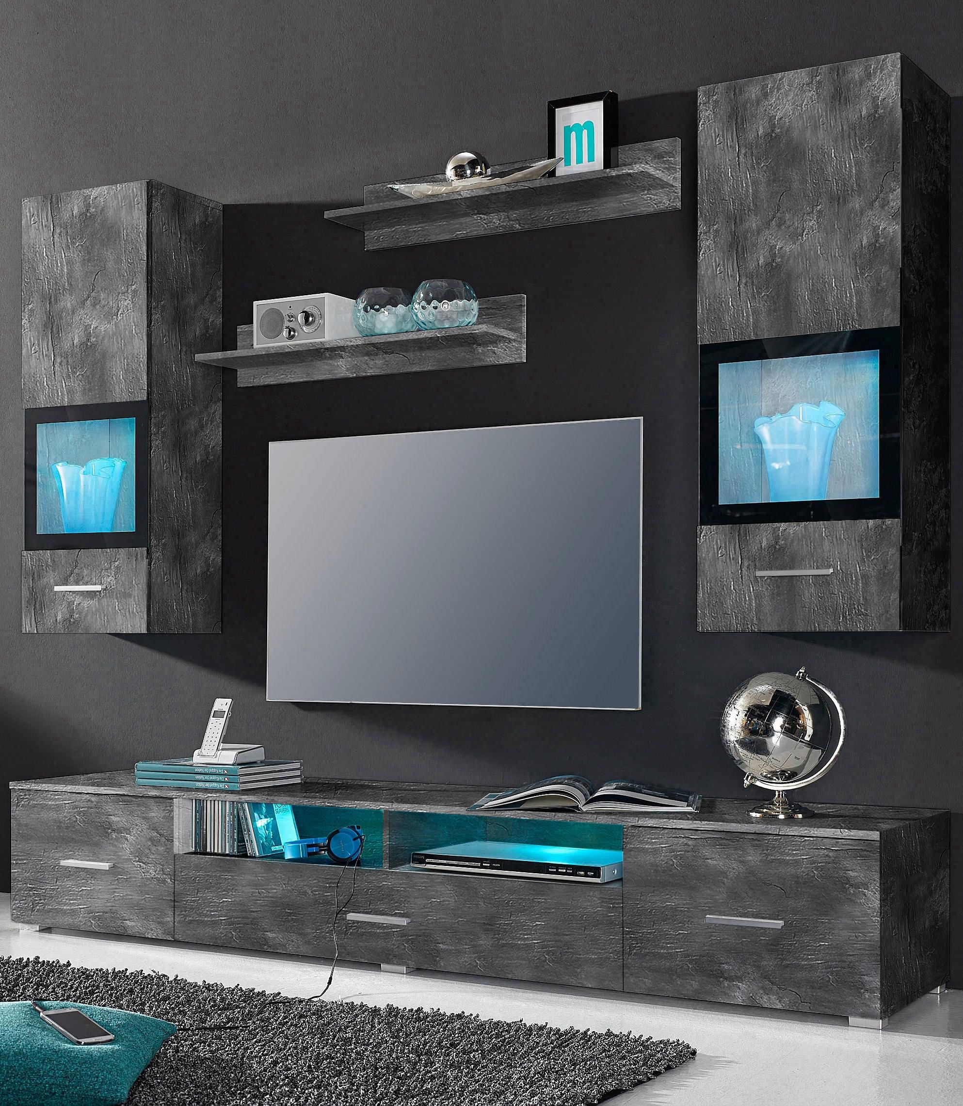 tv wandmeubel kopen gratis verzending otto. Black Bedroom Furniture Sets. Home Design Ideas