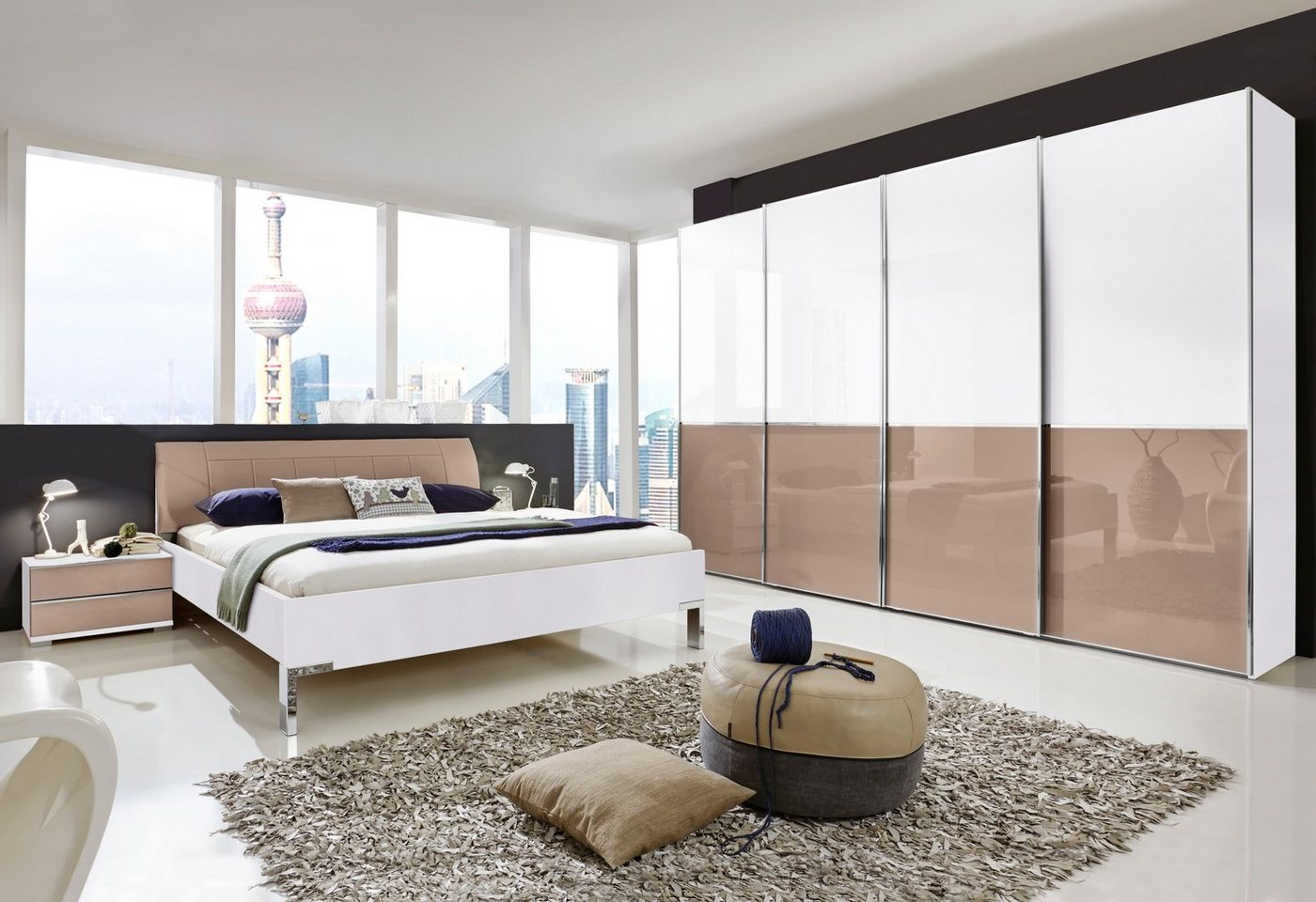 WIEMANN Slaapkamerserie Shanghai in 4-delige set