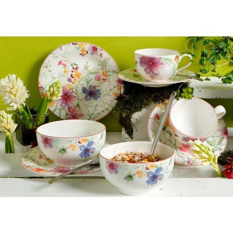 Ontbijtset, premium-porselein, »Mariefleur Basic«, VILLEROY & BOCH (8-dlg.)