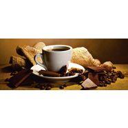home affaire glazen artprint »yastremska: koffiekopje, -bonen«, 125x50 cm bruin